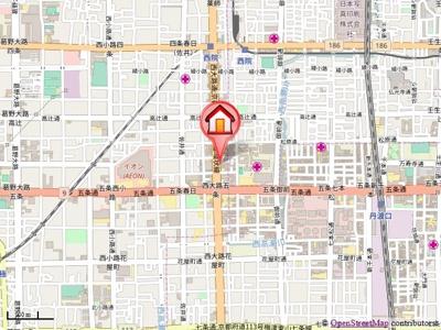 【地図】KDXレジデンス西院(ケイディエックスレジデンス西院)