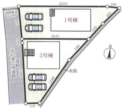 【区画図】三木市大村第2 2号棟