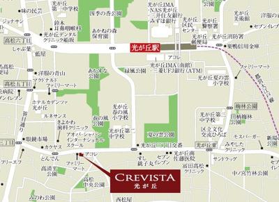 【地図】クレヴィスタ光が丘