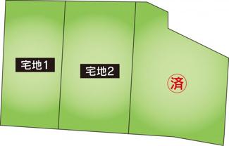 【前面道路含む現地写真】東市来町長里 3区画分譲