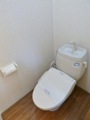 温水洗浄便座で快適♪ ※掲載画像は同タイプの室内画像のためイメージとしてご参照ください。