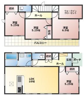 碧南市西浜町2期新築分譲住宅4号棟間取です。