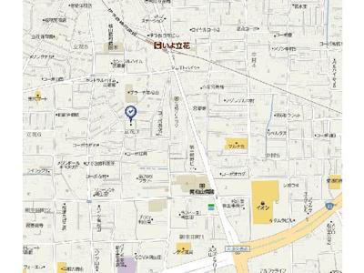 【地図】アヴェニュー南たちばな・