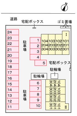 【区画図】パークサイド春日B