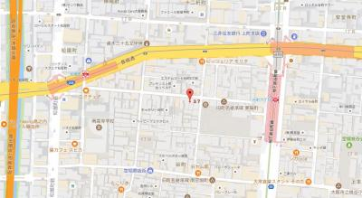 【地図】エスリード谷町六丁目レジデンス