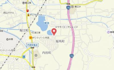 【地図】コーポエバンス