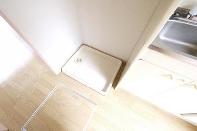 嬉しい便利な室内洗濯機置場