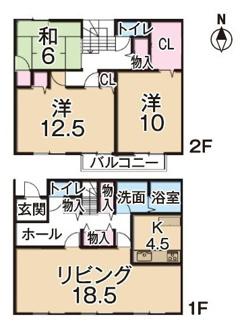 松山市 東野 中古住宅 2世帯