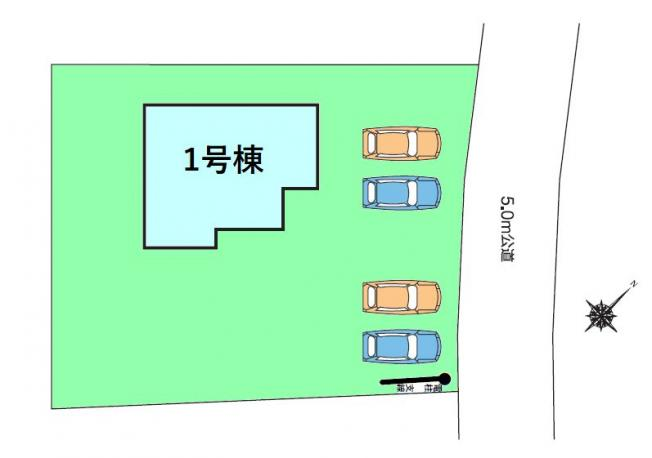 【区画図】現地写真掲載 新築 榛東村長岡HN1-1
