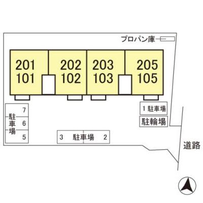 【区画図】グリーンコート 弐番館