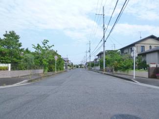 【前面道路含む現地写真】野洲市近江富士6丁目 1号地 売土地