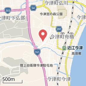 【地図】サニーヒル今津Ⅲ