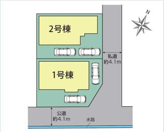 【区画図】伊豆市熊坂2期 新築戸建 全2棟 (2号棟)