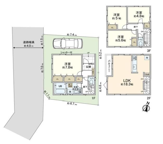 藤沢市片瀬1丁目 新築 2号棟