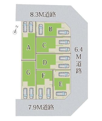 【区画図】MELDIA 瑞穂区関取町№3 E号棟
