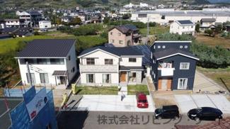 新規住宅が立ち並ぶ新しい街並みです