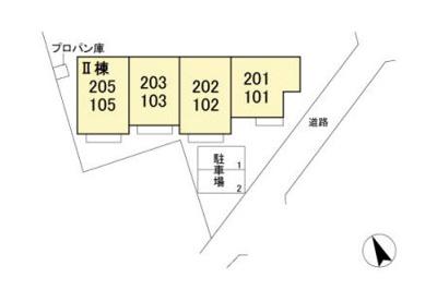 【区画図】メゾン アクア Ⅱ
