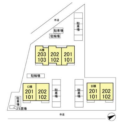 【区画図】SAKURA Hills B