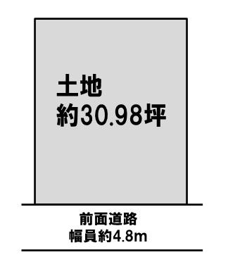 【区画図】吹田市山田東1丁目 一戸建て
