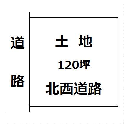 【土地図】大仙市 花館間倉 住宅用地 120坪