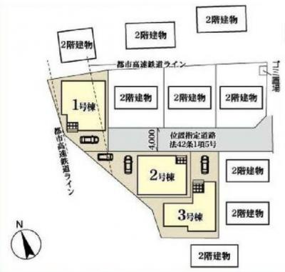 【区画図】新築戸建 川口市桜町3期