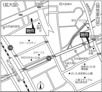 【地図】大宮区北袋町1丁目土地