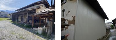 お蔵 外壁は傷んでいます。 裏は修繕済