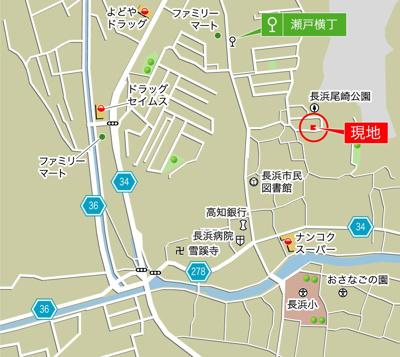 【地図】高知市瀬戸