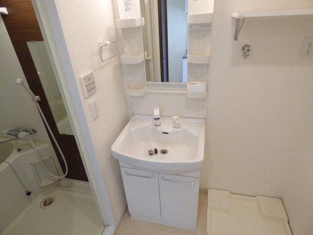 シャワー付洗面台が完備。
