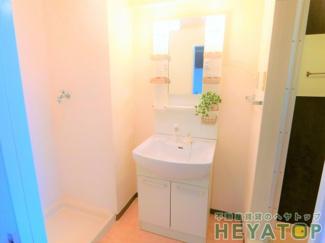 便利なシャワー付き洗面化粧台(同仕様写真)