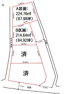 【区画図】高崎市高浜町売地