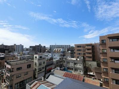 6階部分からの眺望です。 前面に建物がなく開放感◎