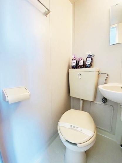 バスルームにあるトイレです!水廻りのお掃除が一気にできちゃいますね☆※参考写真※