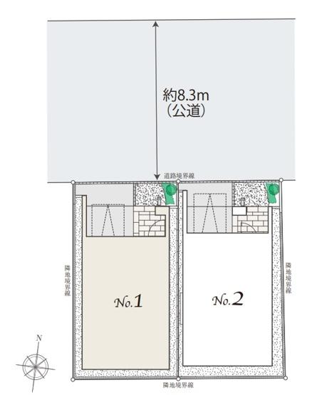 【区画図】【建物ハイグレード仕様】新蒲田2丁目 新築戸建