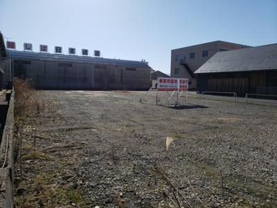 【前面道路含む現地写真】鳥取市湖山町東5丁目事業用土地