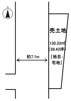 【土地図】高松市新田町甲売土地
