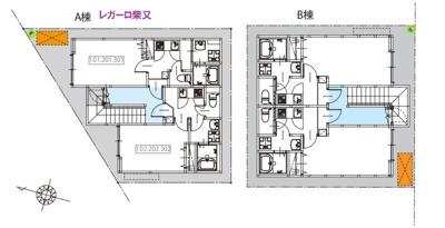 【区画図】レガーロ柴又(レガーロシバマタ)