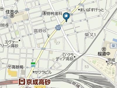 【地図】レガーロ柴又(レガーロシバマタ)