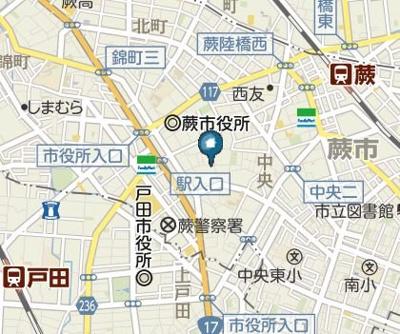 【地図】コンフォートメゾン蕨