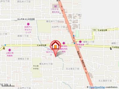 【地図】フレグランス宮内・