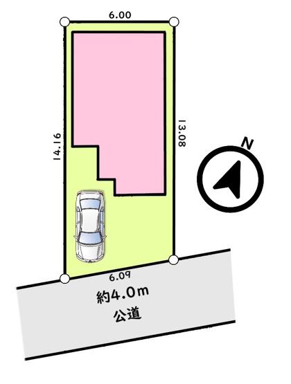 【区画図】東村山市美住町1丁目 中古戸建