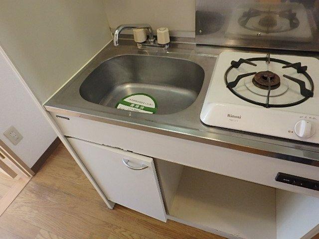 キッチン 1口ガスコンロ ※別室の写真です