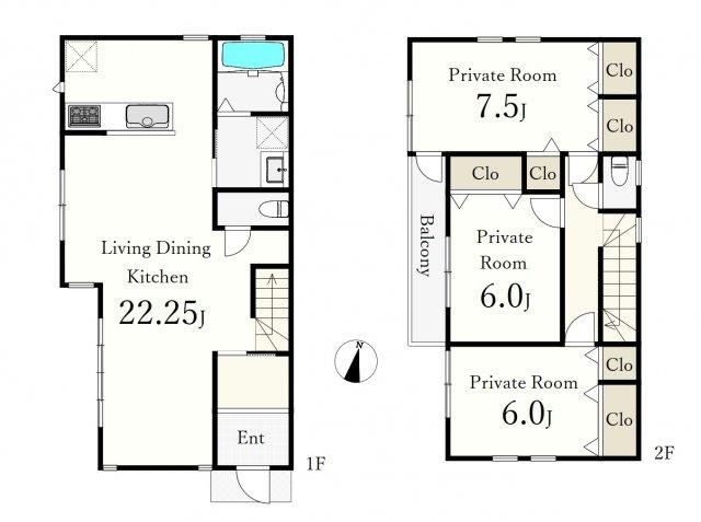 建物プラン例 建物価格2250万円、建物面積101.01m2 ゆとりある空間設計の邸宅が建築いただけます♪♪