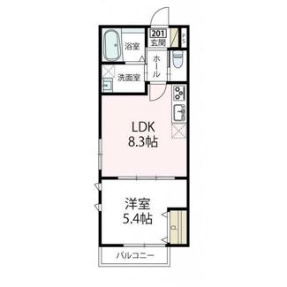 2階、南向きの角部屋、2面採光の明るいお部屋