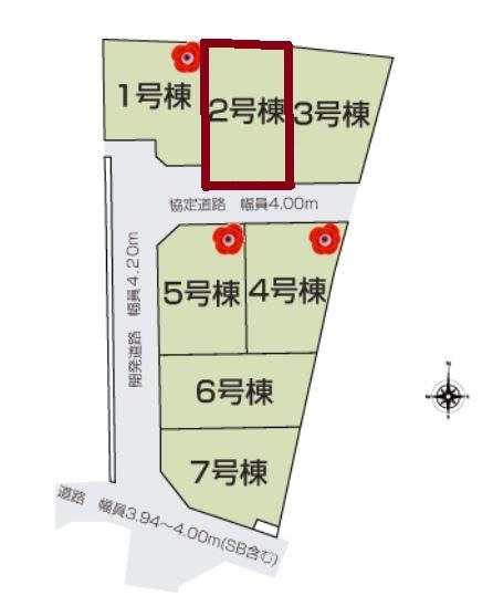 【区画図】新築 茅ヶ崎市今宿 2号棟