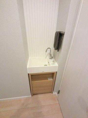 アクアファニチャー(手洗い)で帰宅後すぐに手洗い可能♪