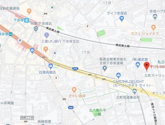 【地図】エルファーロ赤塚