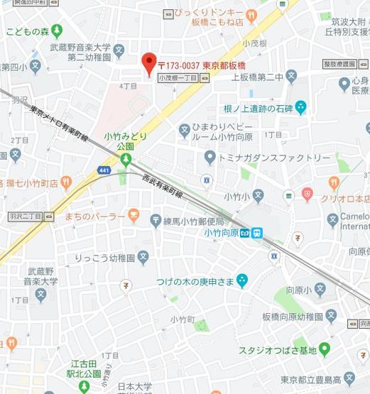 【地図】エルファーロ小竹向原