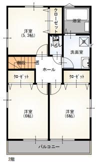 【間取り】東浦町石浜三本松の新築戸建て1号棟