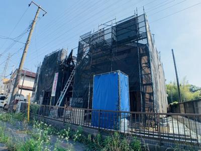 解放感を感じられる現地です。ぜひ実際に建築中の現場をご見学いかがでしょうか?